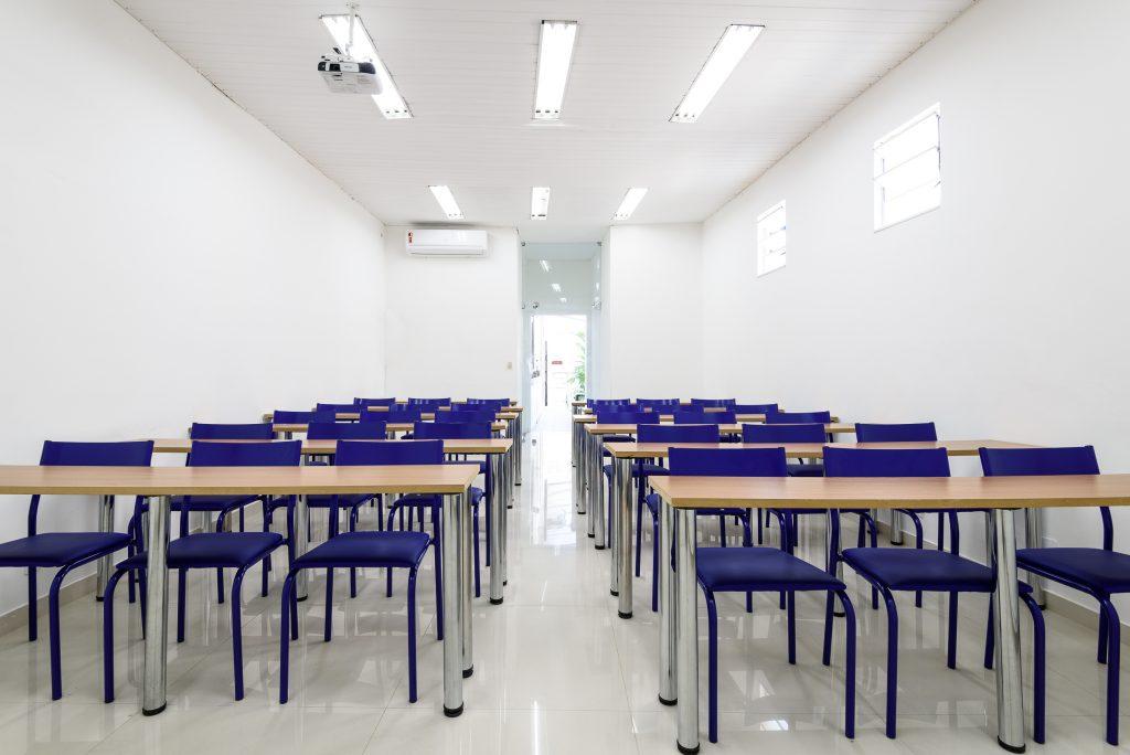 sala de treinamento para equipes e palestrantes.